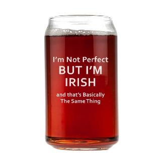 I'm not Perfect Engraved Beer Can Glass 16oz buy at Florist
