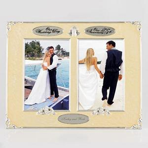 4x6-twin-wedding-25th-anniversary-frame buy at Florist
