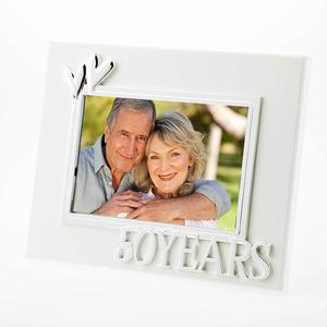 50 years white anniversary frame buy at Florist