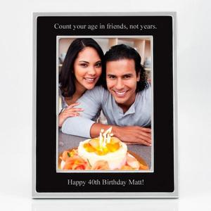 5x7 Black Frame with Silver Trim buy at Florist