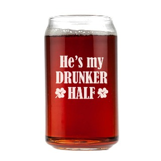 He's my Drunker Half Engraved Beer Can Glass 16oz buy at Florist