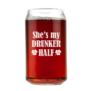 She's my Drunker Half Engraved Beer Can Glass 16oz buy at Florist