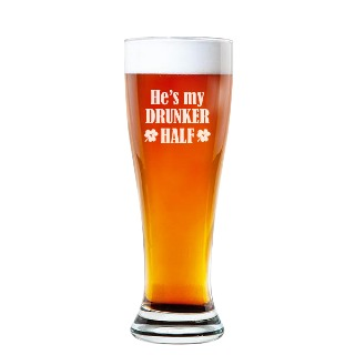 He's my Drunker Half Rounded Pilsner Glass 16oz buy at Florist
