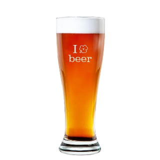 I ☘️  Beer Rounded Pilsner Glass 16oz buy at Florist