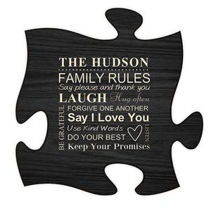 black-puzzle-plaque buy at Florist