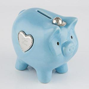 Blue piggy bank buy at Florist