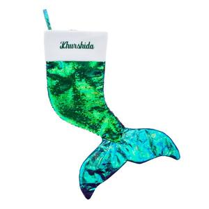 Blue reversible mermaid stocking buy at Florist