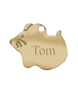Brass Mouse Pet Tag buy at Florist