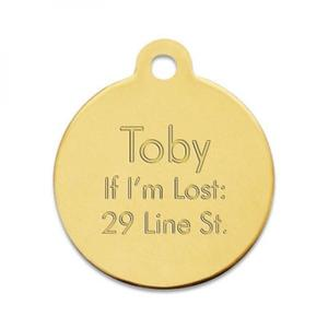 Brass Pet Tag buy at Florist