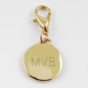 Charm small round gold buy at Florist