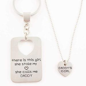 Daddy's Girl Keychain and Necklace Set buy at Florist
