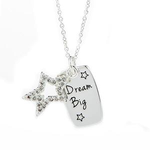 dream-big-necklace-silver-with-star buy at Florist