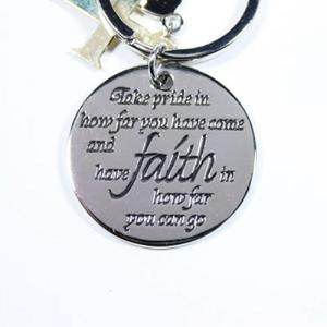 Keychain faith circle with cross buy at Florist