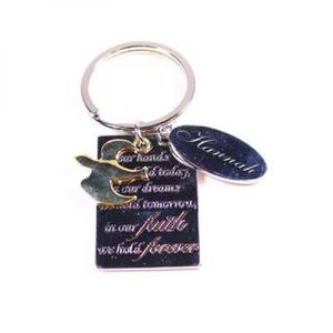Keychain-Faith Forever with Dove Charm buy at Florist