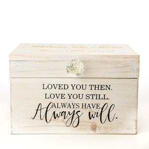 Loved you then and now wooden box buy at Florist