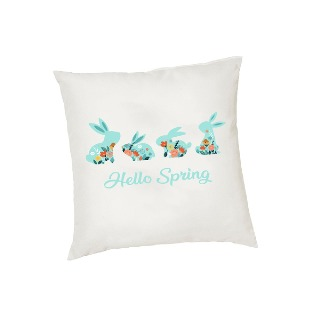 Hello Spring Bunnies Cushion Cover buy at Florist