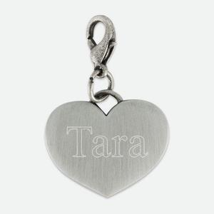 Pewtertone Engraved Heart Charm buy at Florist