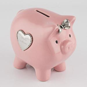 Pink piggy bank buy at Florist