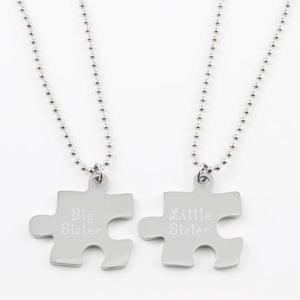 Puzzle piece necklace set of two buy at Florist