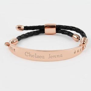 Rose gold leather bracelet buy at Florist