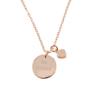 Rose Gold Pendant Necklace w/ Mini Heart Chain buy at Florist
