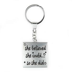 She Believed She Could... Keychain buy at Florist