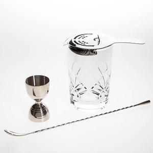 silver-stirred-cocktail-set buy at Florist