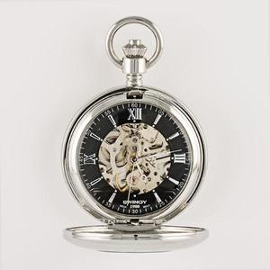 skeleton-black-dial-mechanical-pocket-watch buy at Florist