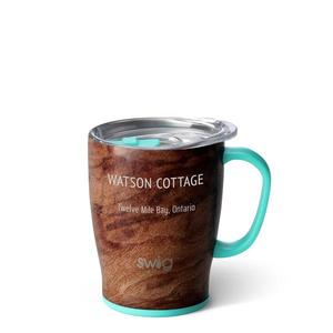 Swig 18oz mug wood grain buy at Florist