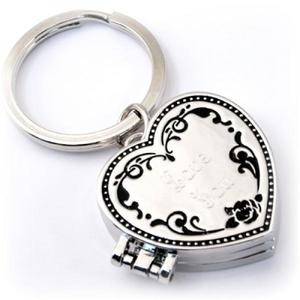 Triple Locket Heart Key Chain buy at Florist