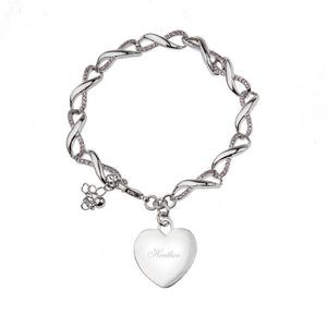 Twirly Infinity Chain Bracelet with Heart Charm buy at Florist