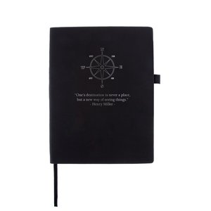 Vegan leather notebook black buy at Florist