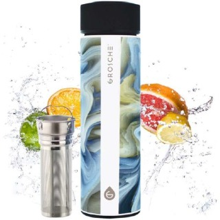 GROSCHE Chicago Double Walled Infuser Tea Tumbler - Coloured Marble buy at Florist